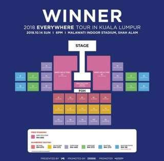 Green WINNER Concert Ticket #EVERYWHERETourinKL #WINNERinMY cos I got a better tix 🙏  Zone: Green 4 RD  Type: Physical tix (redeem at venue) #WINNERinMY #EVERYWHERETourinKL #InnerCircle #WinnerLightStick #WinnerMy #DeclutterWithFatin