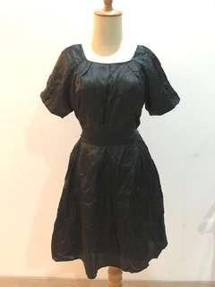 Marks & Spencer Black Satin Dress