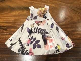 NEXT floral printed evening dress
