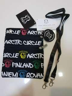 Arctic Circle Neck Pouch by Robin Ruth