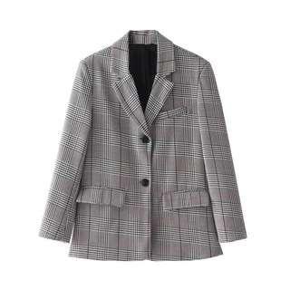 [Pre-order] Plaid blazer #PayWithBoost