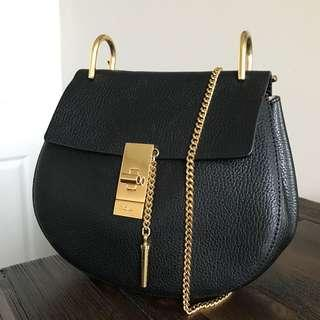 Chloe Drew Black Small Crossbody Bag