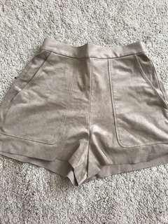 Aritzia Suede Shorts Small