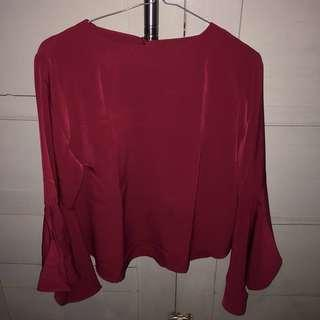 The executive maroon blouse