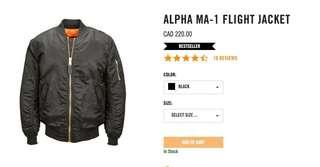 Alpha industries size small
