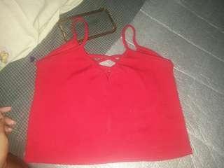 Crisscross sleeveless croptop