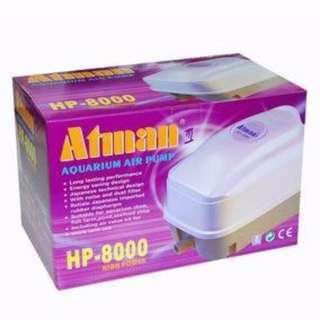 Atman HP-4000 / HP-8000 Air Pump 35L/Min For Aquarium Fish Tank