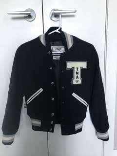Aritzia TNA varsity bomber jacket