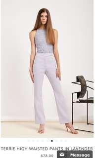 💫BN VGY Terrie highwaisted pants in lavender
