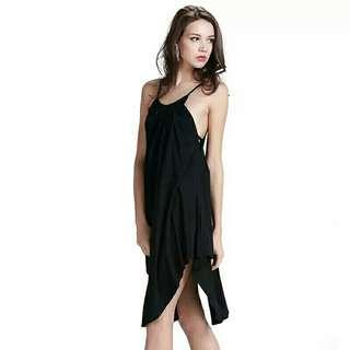 全新 不規則下襬性感吊帶A字洋裝 size:XS/S/M