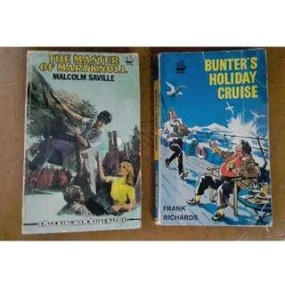 The Master Of Maryknoll By Malcolm Saville & Bunter's Holiday Cruise  By Frank Richards