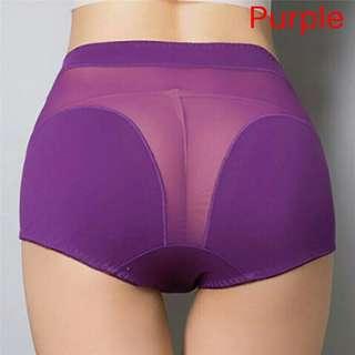 全新 高腰網紗拼接內褲 size:XL