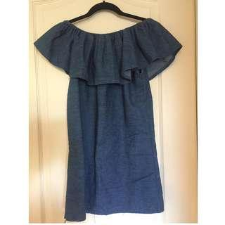 Small Jean Off The Shoulder Dress