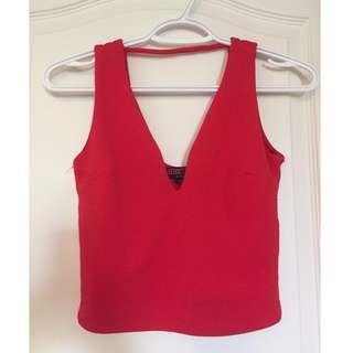 Small Red Sirens Cropped Tank Top