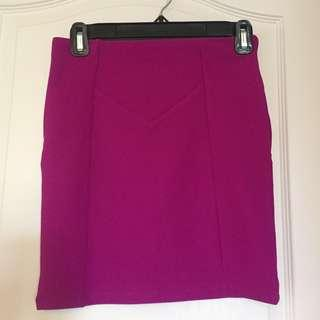 Small Forever 21 Magenta Mini Skirt