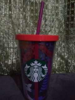 Starbucks Tumbler 16 oz, cold cup night forest