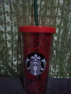 Starbucks Tumbler, 12oz cold cup Poinsettia