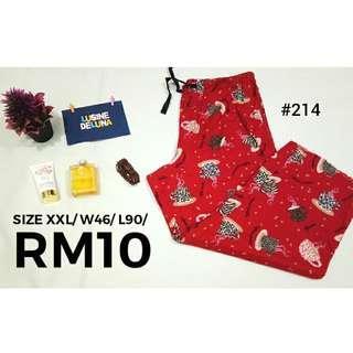 Red Sleepwear Pants #214