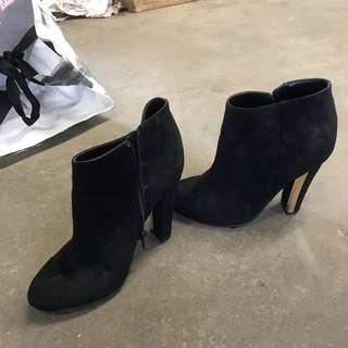 Black ankle boots size 6.5