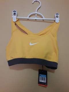 Nike Sports Bra in Mustard
