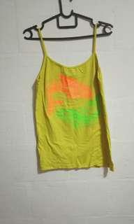 🚚 UV Handpainted Yellow Spag Top