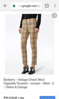 BURBERRY VINTAGE MID RISE CROP PANTS ( sample pic only)