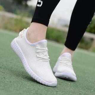 White rubber shoes / white sneakers / Rubber Shoes / sneakers / yeezy