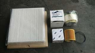 Ford Ranger T6 (oil filter + diesel filter + cabin filter)