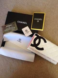Chanel white cambon wallet
