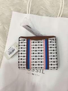 Fossil leather multi ecru wallet
