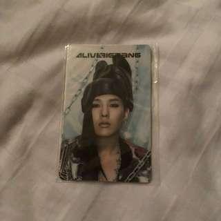 GD Still Alive Photocard