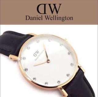 Daniel wellington leather watch