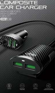 Idnio car smoke plug adaptive usb port 2+2