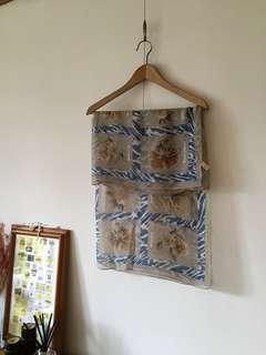 Vintage日本制/質感方型絲巾