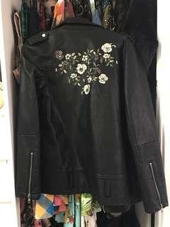 Glassons embroidered leather jacket