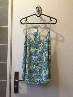 Floral Top With Chain Detail