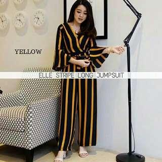 Best Seller !!! Elle Stripe Long Jumpsuit