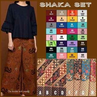 Shaka set batik long sleeve