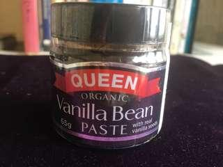 Queen Organic Vanilla Bean Paste 65g