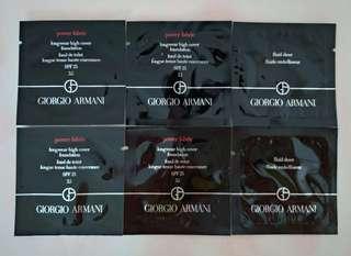 Giorgio Armani Power Fabric Longwear High Cover Foundation SPF25 持久零瑕粉底液 1mlx4 / Fluid Sheer Fluide Embellisseur薄紗炫光亮彩液 (Contour & Highlight) 1mlx2