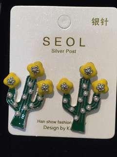 019 Cactus Green Earrings