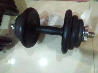 2sets Maxx Fitness Rubberized Dumbbell