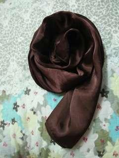 Dark brown bawal satin #H&M50