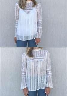 Zimmermann inspired white lace top Zara