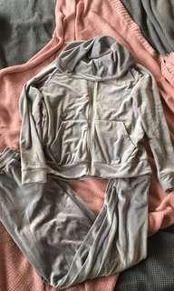 Grey velour tracksuit size small