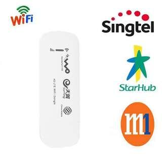 🚚 New 4G + Wifi 150Mbps Wireless Modem USB Dongle, Support Use in Singapore and Overseas