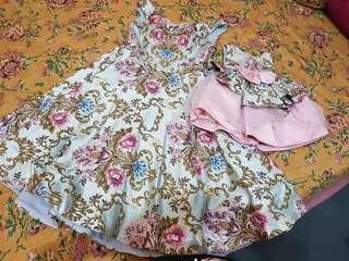 Dress gaun pesta mom and kids couple