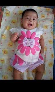 Baju anak setelan daisy 6bln-2.5th