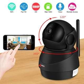 1080P Wifi Camera Home Video Camera Night Vision Security Camera Two-Way Audio Baby Monitor 1920*1080 - UK Plug