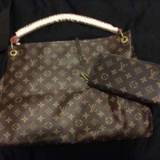Louis Vuitton bag and wallet together